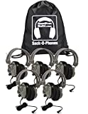 HamiltonBuhl Sack-O-Phones, 5 SC7V Deluxe Headphones w/Volume Control in a Carry Bag