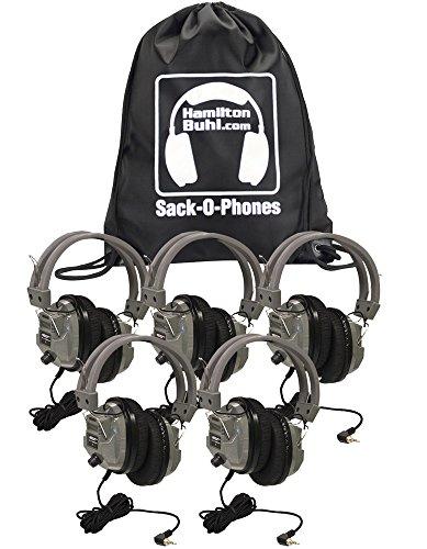 HamiltonBuhl Sack-O-Phones, 5 SC7V Deluxe Headphon...