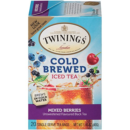 - Twinings of London Mixed Berries Cold Brewed Iced Tea Bags, 20 Count (Pack of 6)
