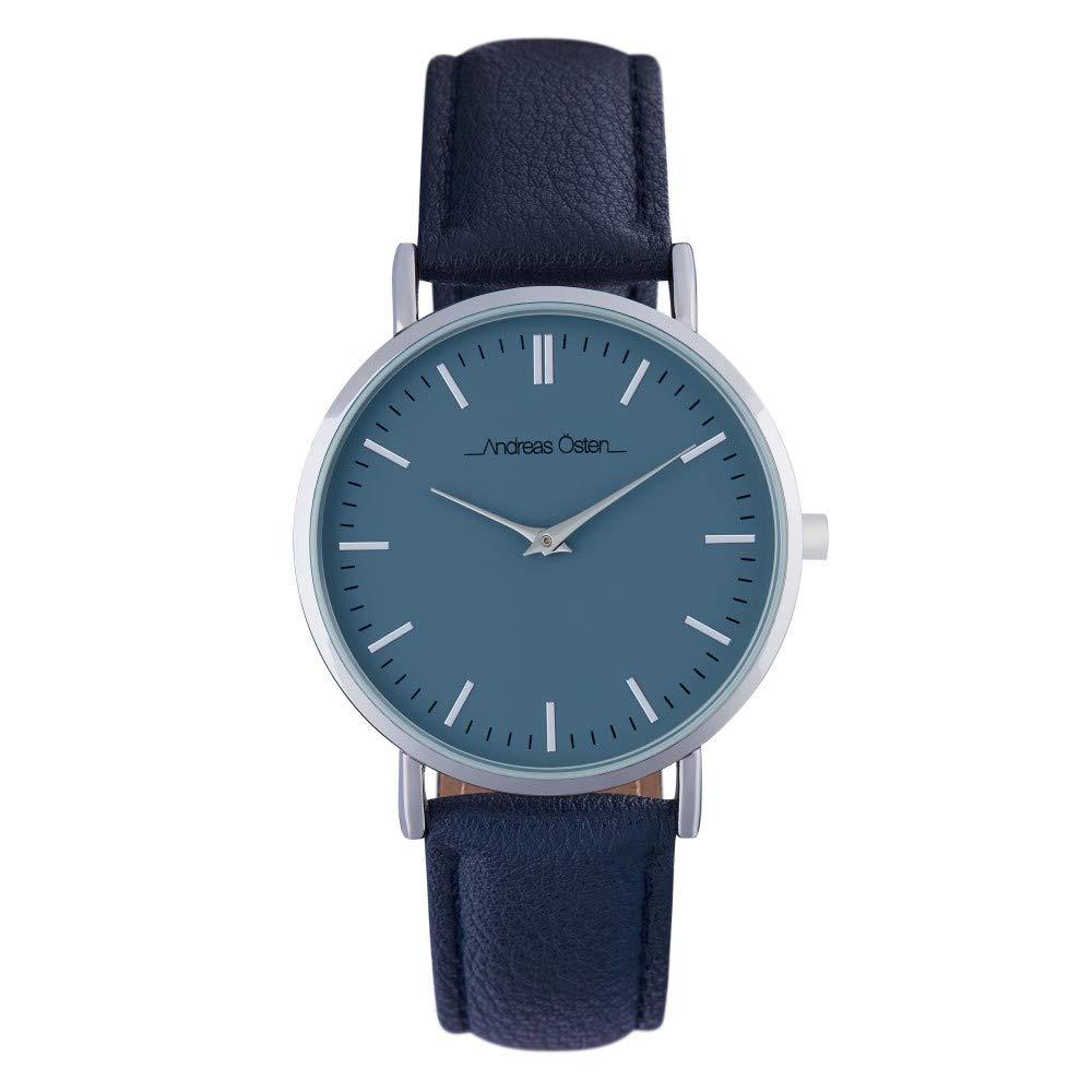 Andreas Osten Unisex Quartz Watch 36 mm Blue Dial and Black PU Bracelet AOW18024