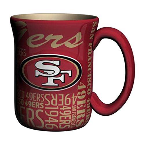 NFL San Francisco 49ers Sculpted Spirit Mug, 17-ounce, Red (Mug 49ers San Francisco)