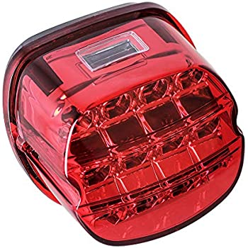 Amazon.com: MOVOTOR Red Low Profile Harley Davidson Tail ... on