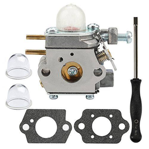 (Dalom WT-973 Carburetor + Carb Adjustment Tool for Cub Cadet BC280 BC210 CC212 CS202 SS270 Trimmer Weed Eater Yard Machines Y25 Y60 Y2500 Y2550EC Y2700EC Y2900EC Brushcutter YM21CS YM71SS)