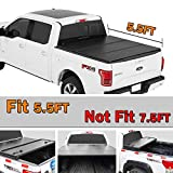 Spead-Vmall 5.5ft Bed Hard Tri-fold Truck Bed Tonneau Cover For Ford F150 Supercrew