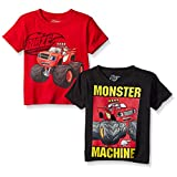 Blaze and the Monster Machines Toddler Boys' 2-Pack T-Shirt Shirts, 2 Pack Assorted , 5T