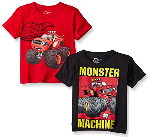 Blaze and the Monster Machines Toddler Boys' 2-Pack T-Shirt Shirts, 2 Pack (Boys Machine)