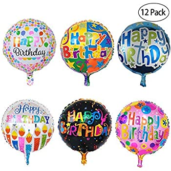 Amazon.com: NPLUX Globos de helio redondos de 18 pulgadas ...