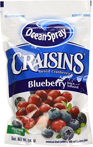 Ocean Spray Craisins Sweetened Dried Cranberries, Blueberry 2 5-ounce packages
