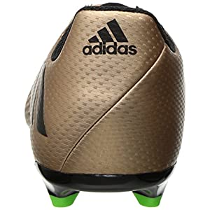 Adidas Performance Kids' Messi 16.3 J Firm Ground Soccer Cleat, Copper Metallic/Black/Solar Green, 10.5 M US Little Kid