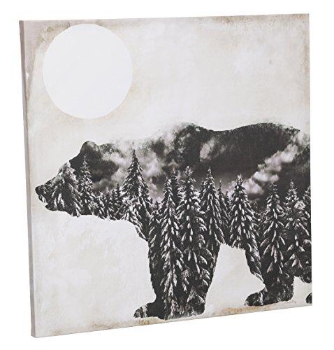(Cape Craftsmen Bear Wilderness Silhouette Indoor Wall Canvas)