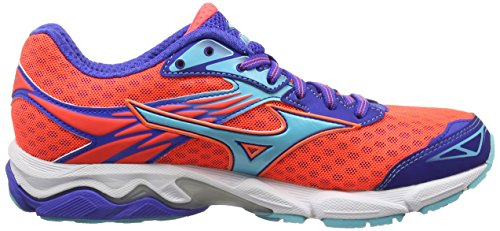 Capri Catalyst Coral Blue Rose Running Compétition Chaussures de Wave Mizuno Fiery Dazzling Femme vq5wTSn1