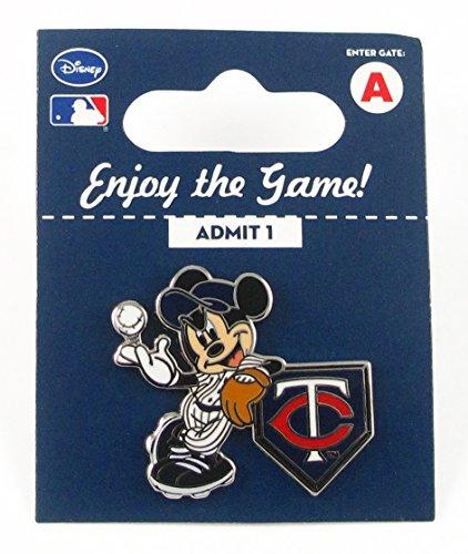 MLB Minnesota Twins Disney Pin - Mickey Leaning on Home Base - Minnesota Twins Mouse