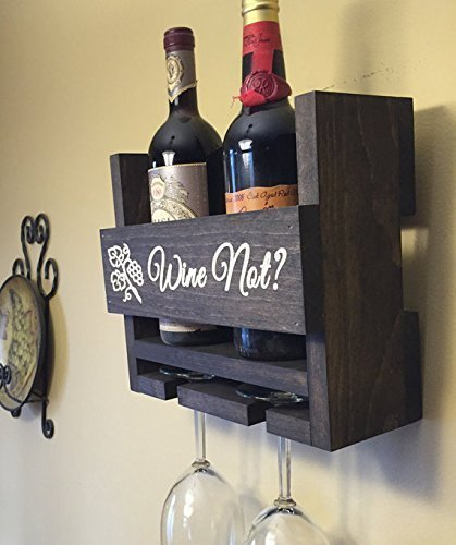 Amazon.com: Personalized Wine Rack Engraved Carved Custom Rustic 2 ...