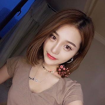 Amazon Com Korean Wig Girls With Short Fre Of Short Hair
