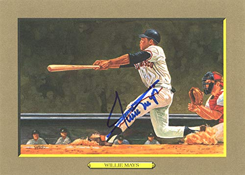(Willie Mays Autographed Perez-Steele Great Moments Postcard #65 San Francisco Giants Beckett BAS #E46778)