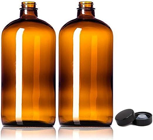 2pcs 32oz Amber Growlers Botellas de Vidrio de Kombucha vacíos con ...
