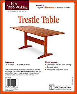 Fine Woodworking S Trestle Table Plan Editors Of Fine Woodworking 9781600856129 Amazon Com Books