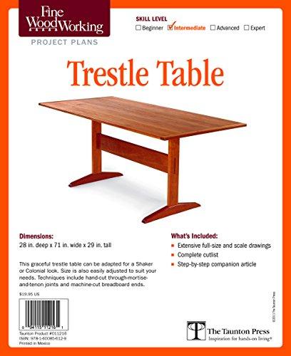 Fine Woodworking's Trestle Table Plan