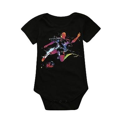 2a6e4d05f82d4 Beikoard - Vêtements pour enfants Nouveau-Né Toddler Bébé Filles Garçons  Coupe du Monde Barboteuse Imprimée de Football Jumpsuit Combinaisons Tenues  pour ...