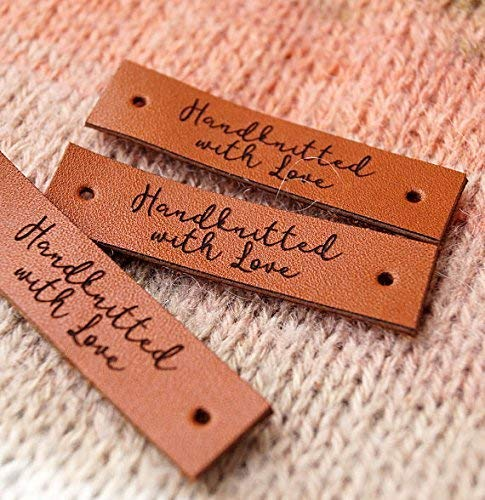 Amazoncom Leather Labels For Crochet Labels For Knitting Custom
