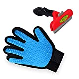 Pet Brush & Pet Grooming Glove - Pet deShedding Tool Brush & Glove for Dogs, Lgsixe Double Sided Grooming Brush Tool for Dogs & Cats, Fit to All pet Sizes (5in)