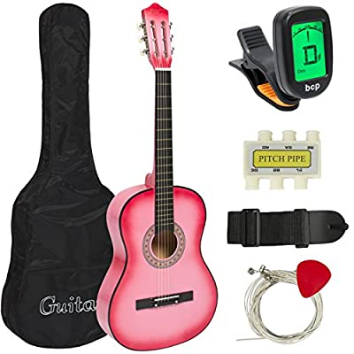 Best Choice Products Beginners Acoustic Guitar with Case, Strap, Digital E-Turner, Tuner and Pick