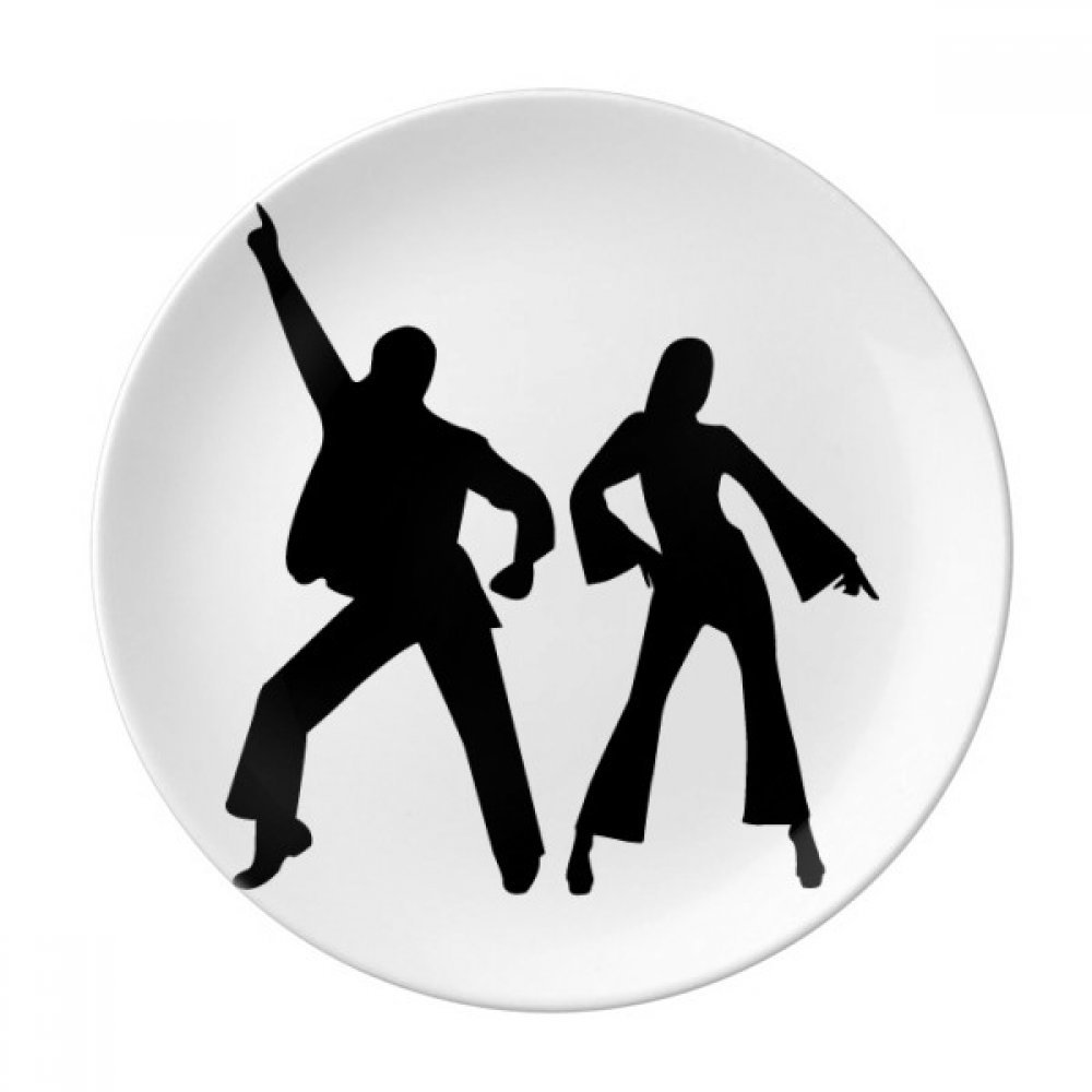 Dancer Sports Duet Dance Performance Dessert Plate Decorative Porcelain 8 inch Dinner Home