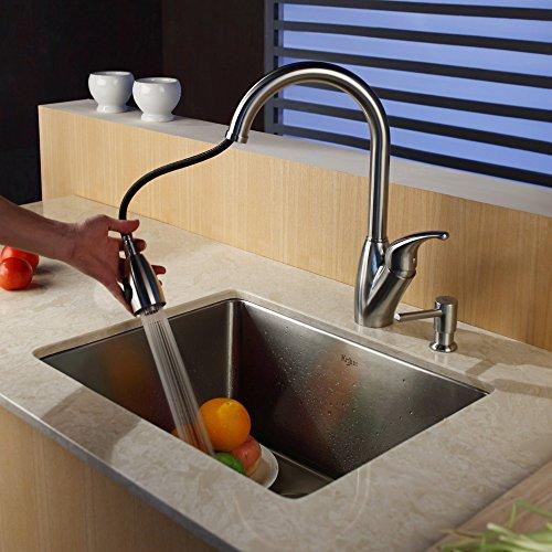 Black Kitchen Sink Malaysia: Kraus KHU101-23-KPF2120-SD-20 23 Undermount Single Bowl