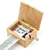 Classic Music Box DIY Hand-cranked Wooden Music Box - Make Your Own Song Include 1 Hole Punch and 5 Paper strip (2 Blank)