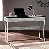 Contemporary MDF Computer Desk with Drawer Marble Melamine Finish