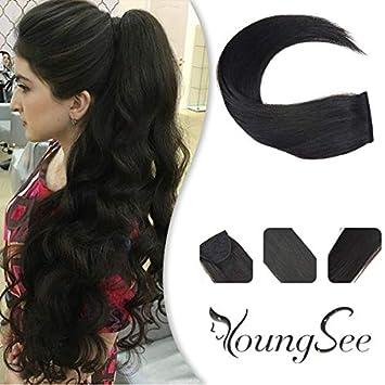 Amazon.com: Youngsee Extensiones de pelo de cola de caballo ...