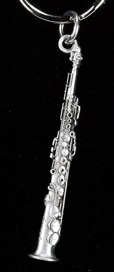 Fashion Jewelry Pewter Necklaces & Pendants Harmony Jewelry Soprano Sax Necklace
