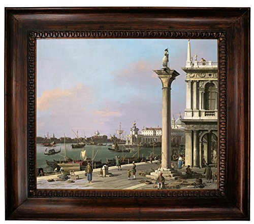 1750 Framed Canvas - Historic Art Gallery Bacino Di S. Marco: from The Piazzetta 1750 Framed Canvas Print 20