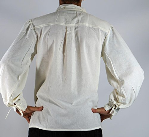 Bbalizko Mens Medieval Retro Cosplay Costume Lace Up Stand Collar Shirt Tops by Bbalizko (Image #2)