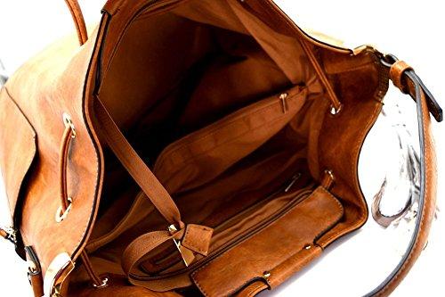 3 Side Handbag Hobo White w Compartment Republic Pockets Strap 7qwqxT