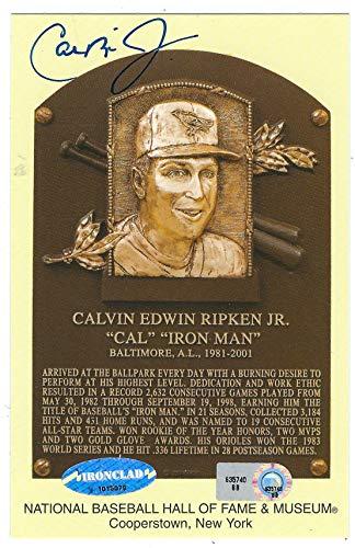 Main Line Autographs Autographed Cal Ripken,Jr Hall Of Fame Gold Plaque ()