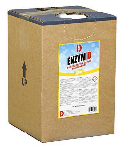 Big D 5500 Enzym D Digester Deodorant, Lemon Fragrance, 5 Gallon Pail - Breaks down organic waste and destroys odors - Ideal for use on urine in restrooms and carpets