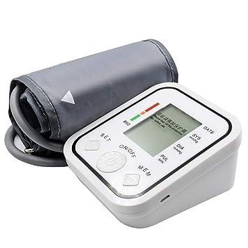Yuehg Tensiómetro de Brazo Automático Cómodas y Precisas con Gran Pantalla LCD,Memoria 2 x 99,White: Amazon.es: Deportes y aire libre