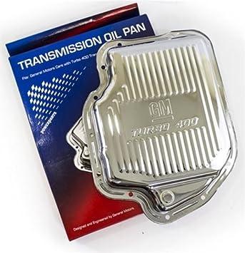 Original AC Delco GM NOS Chrome Transmission Oil Pan Turbo 400