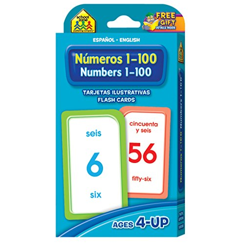 Numbers 1-100 Flash Cards - Bilingual (Spanish Edition) (Spanish Number Flash Cards compare prices)
