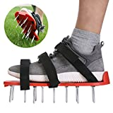 Navegando Lawn Aerator Spike Shoes Yard Garden Tools with Heavy Duty Steel Spikes, Adjustable Straps