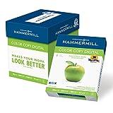 Hammermill Printer Paper, Color Copy Digital Copy Paper, 28lb, 8.5 x 11, Letter, 100 Bright - 5 Pack / 2,500 Sheets (102450C)