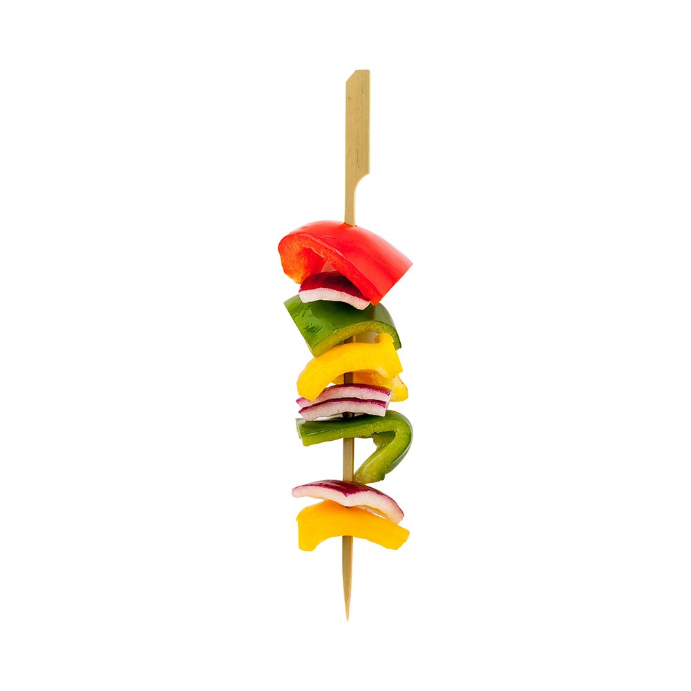 8-inch Bamboo Paddle Skewers: Perfect for Commercial and Backyard Grilling – Natural Color – 1000-CT – Biodegradable and Eco-Friendly – Restaurantware by Restaurantware (Image #1)