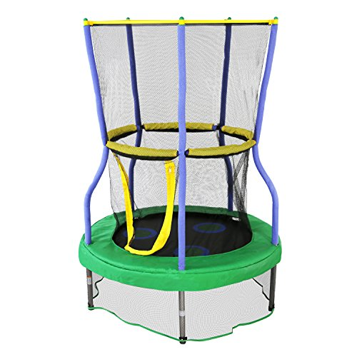 Skywalker Trampolines Mini Trampoline with Enclosure Net, 40 - inch, Green