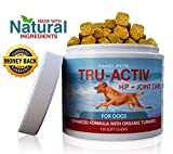 All Natural Hip & Joint Care for Dogs | Improves Mobility & Hip Dysplasia | Glucosamine, MSM, Chondroitin, Turmeric | Antioxidants | cGMP Certified | Made in USA | 120 Savory Soft Chews