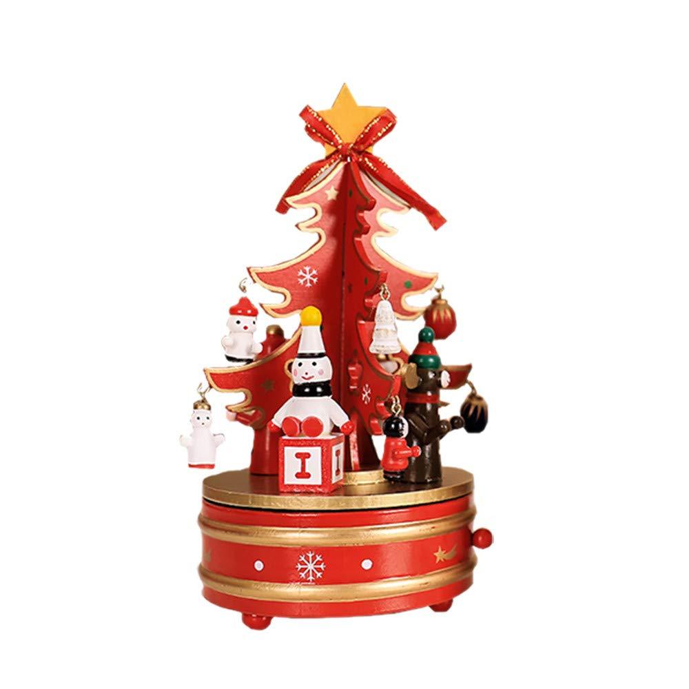Spritumn Education Toys Christmas Music Box , Rotating Music Christmas Tree Music Toy Indoor Decoration (Green)