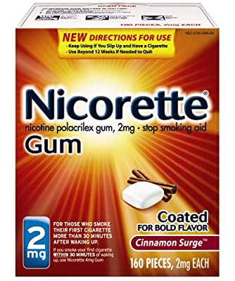 Nicorette Nicotine Gum, Stop Smoking Aid, Cinnamon Surge Flavor, 160 count