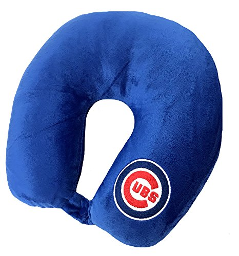The Northwest Company MLB Chicago Cubs Applique Neck Pillow, Travel Pillow, One Size