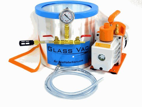GlassVac 3 Gallon Aluminum Chamber and 3 CFM Single Stage Pump Kit
