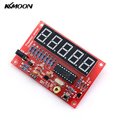 KKmoon 50MHz Crystal Oscillator Frequency Counter Tester DIY Kit 5 Digits Resolution - Frequency Counter Kits